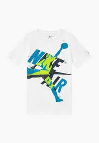 Jordan - JUMPMAN  CLASSIC GRAPHIC - T-shirt con stampa - white/obsidian - 0