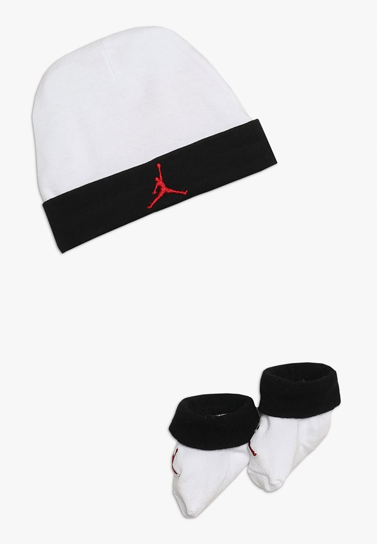 Jordan - BASIC JORDAN HAT BOOTIE SET  - Muts - white