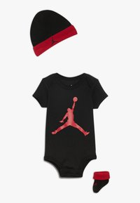 Jordan - JUMPMAN HAT BOOTIE SET - Čepice - black/gym red - 0