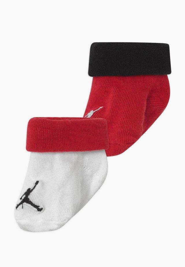 JUMPMAN COLOR BLOCKED BOOTIE 2 PACK - Sportovní ponožky - red