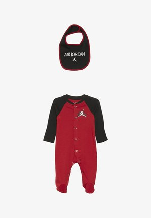 JUMPMAN CLASSIC FOOTED COVERALL SET - Dupačky - gym red/black