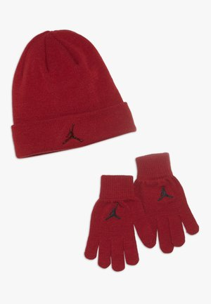 JUMPMAN BEANIE GLOVE SET - Handschoenen - gym red