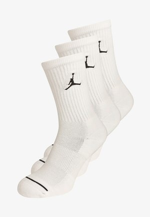 JUMPMAN CREW 3 PACK - Urheilusukat - white/black