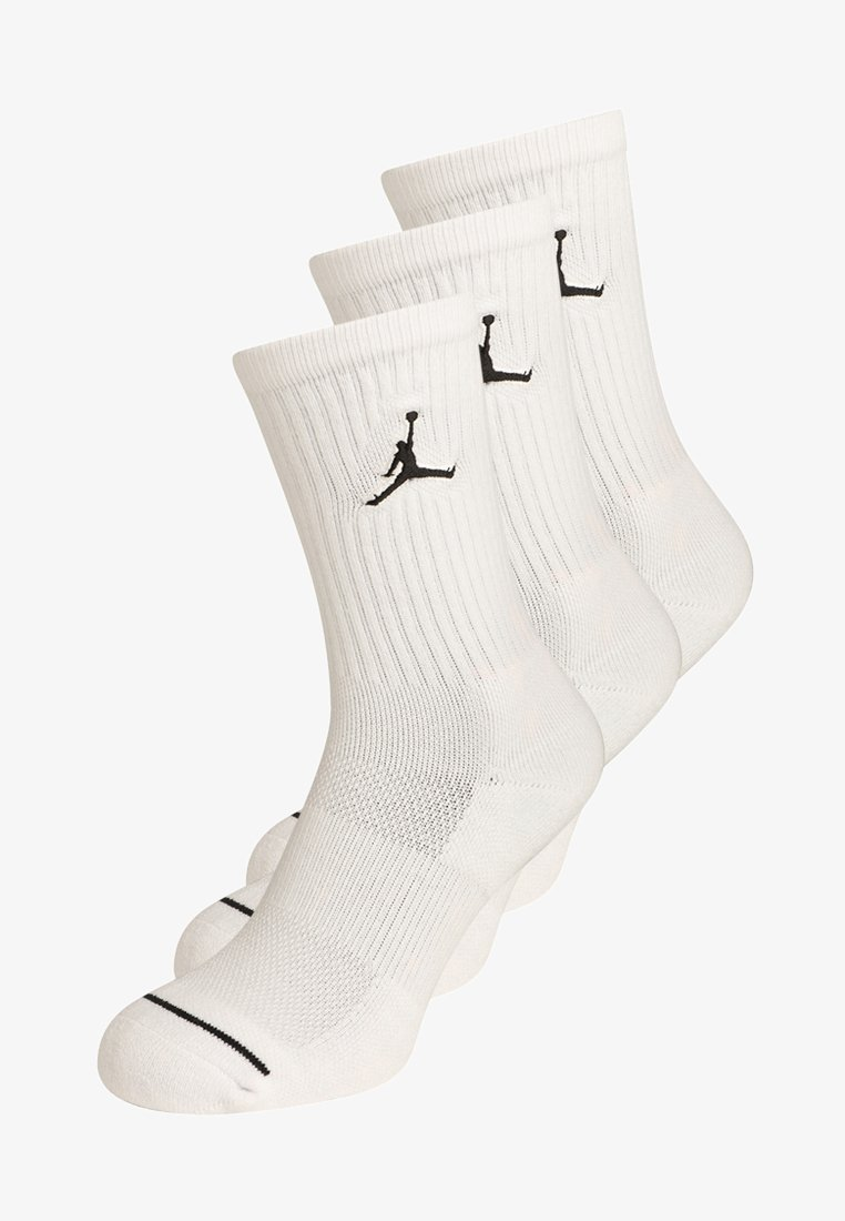 Jordan - JUMPMAN CREW 3 PACK - Sports socks - white/black