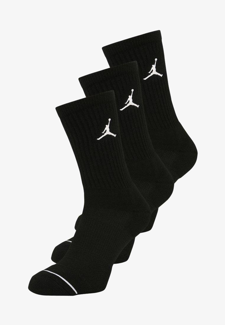 Jordan - JUMPMAN CREW 3 PACK - Sports socks - black