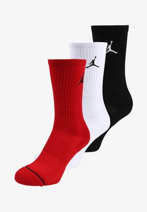 JUMPMAN CREW 3 PACK - Sportsocken - black/white/gym red