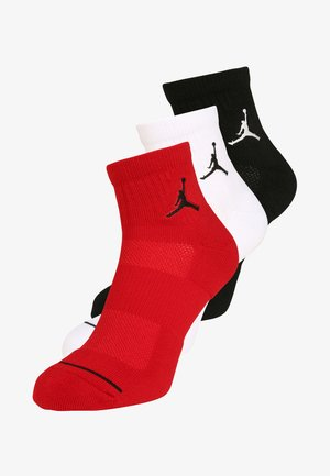 JUMPMAN 3 PACK - Sportsokken - black/white/gym red