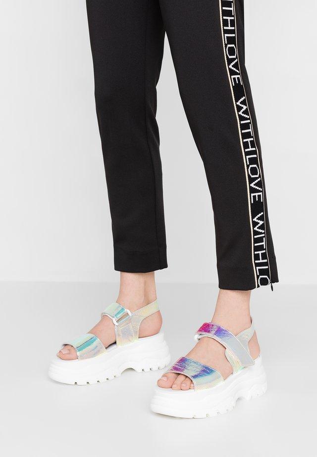 SPICE HOLO - Platform sandals - silver