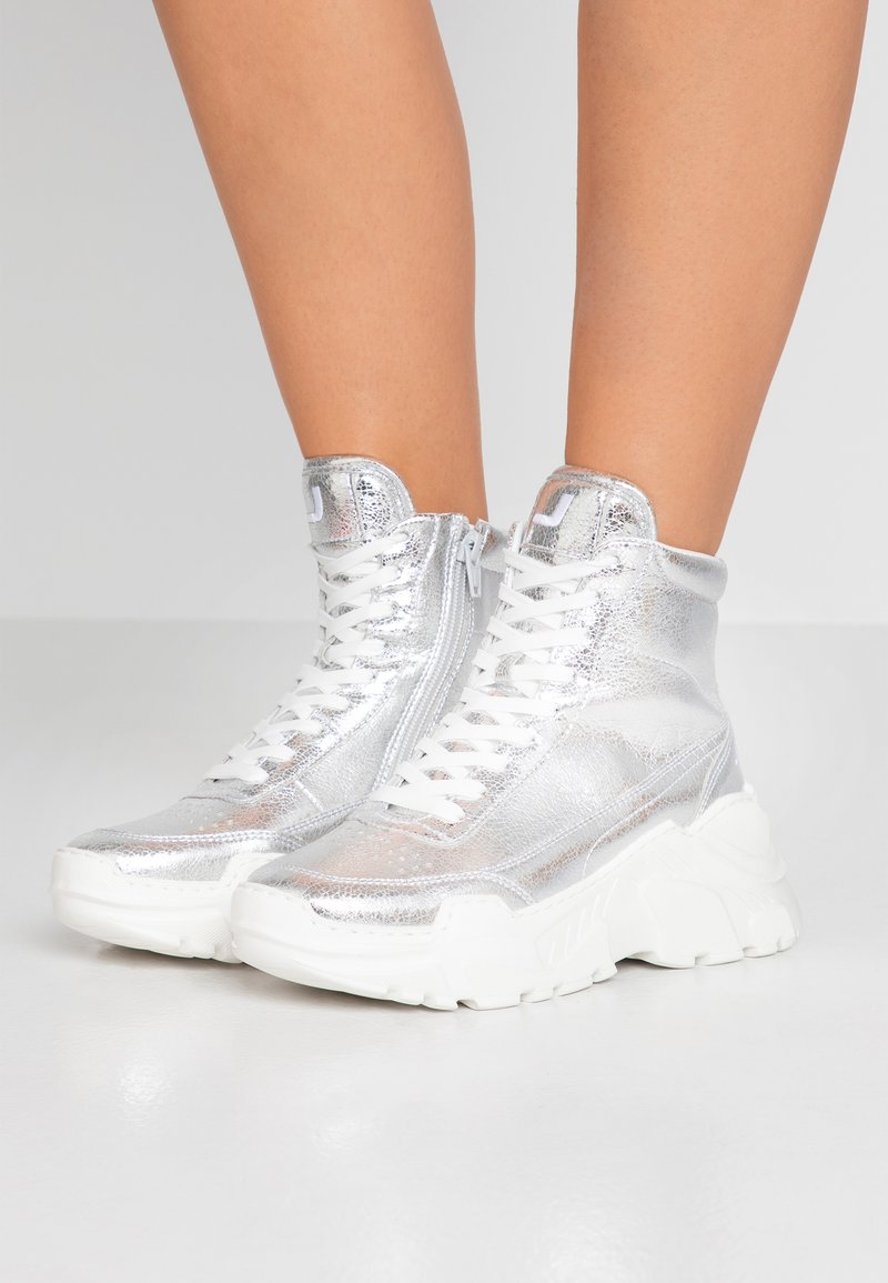 Joshua Sanders - ZENITH CLASSIC DONNA SPACE - Sneakersy wysokie - silver
