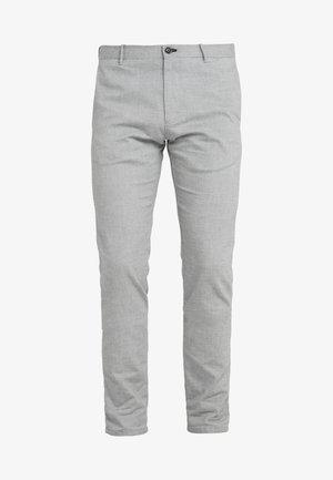 STEEN - Trousers - light grey melange