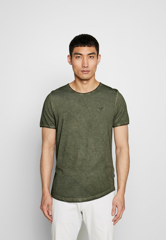 CLARK - T-shirt med print - dark green
