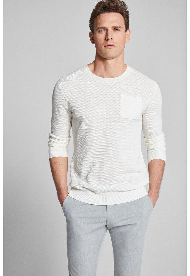 STEYN - Strickpullover - white