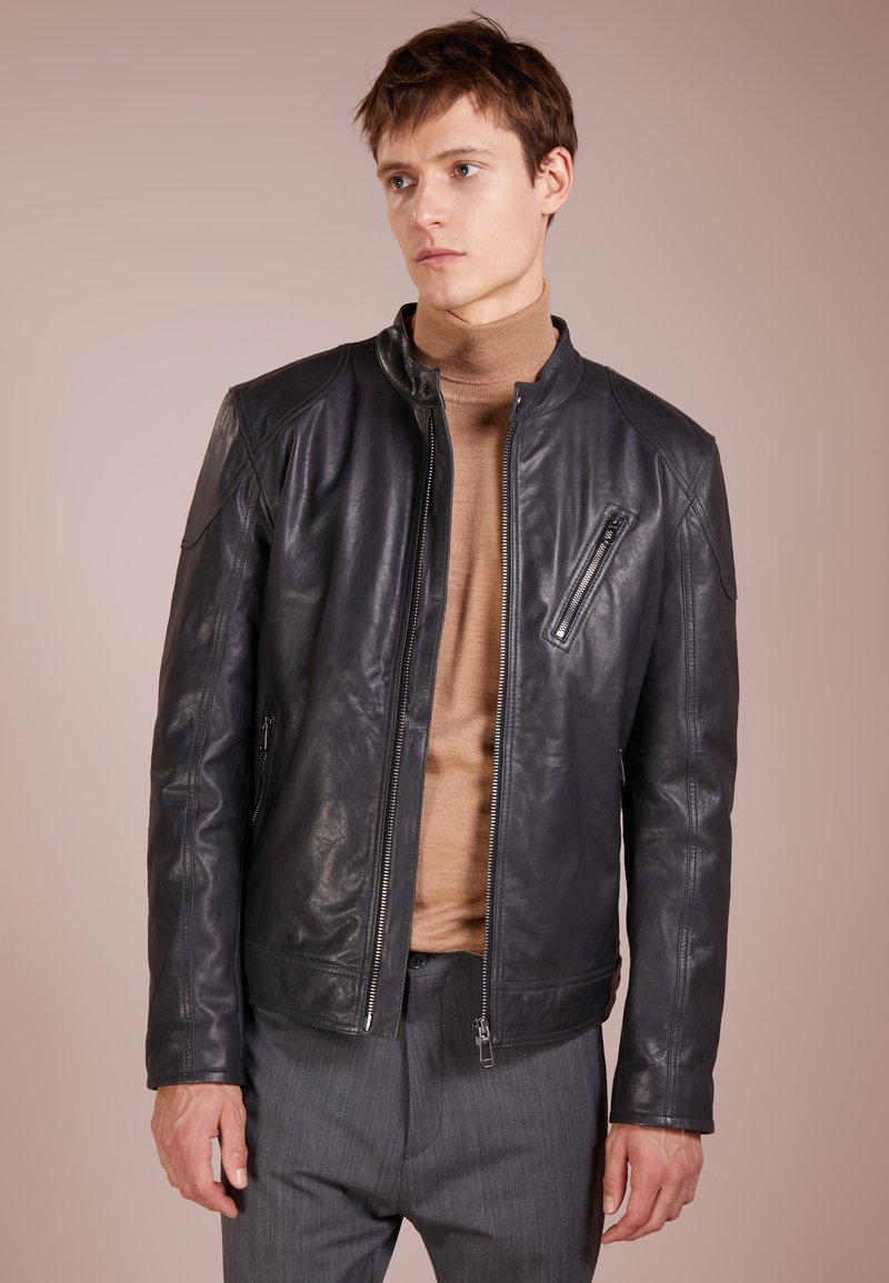 JOOP! - MAX - Leather jacket - anthracite