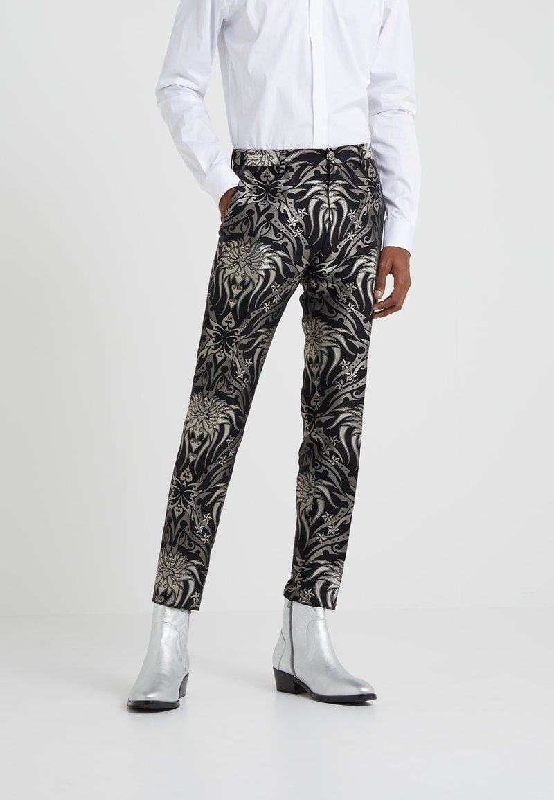 John Richmond - PANTS SPEED - Suit trousers - black