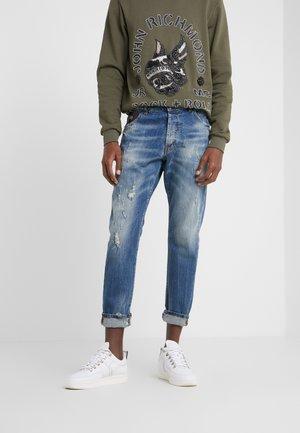 Jeans Slim Fit - blue/white