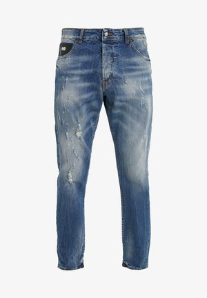 Jeans slim fit - blue/white