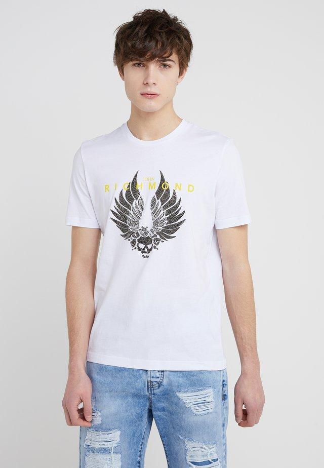TIMESQUARE - T-shirt z nadrukiem - white