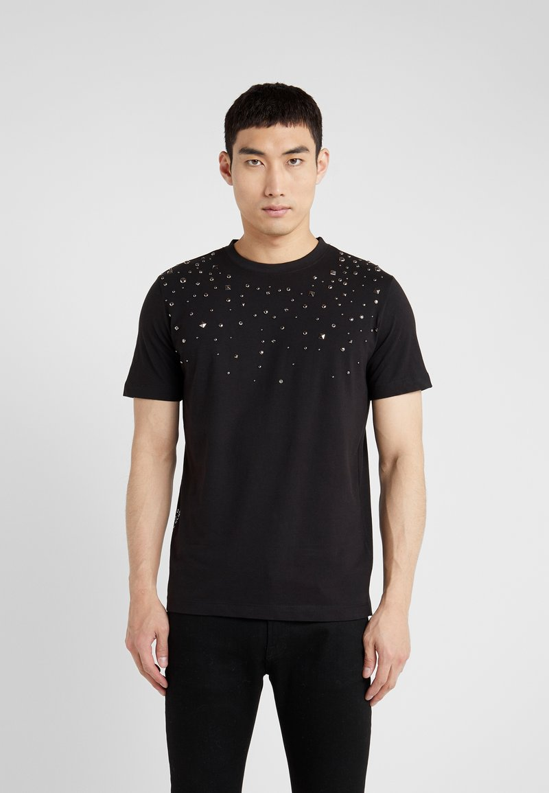 John Richmond - T-shirt con stampa - black