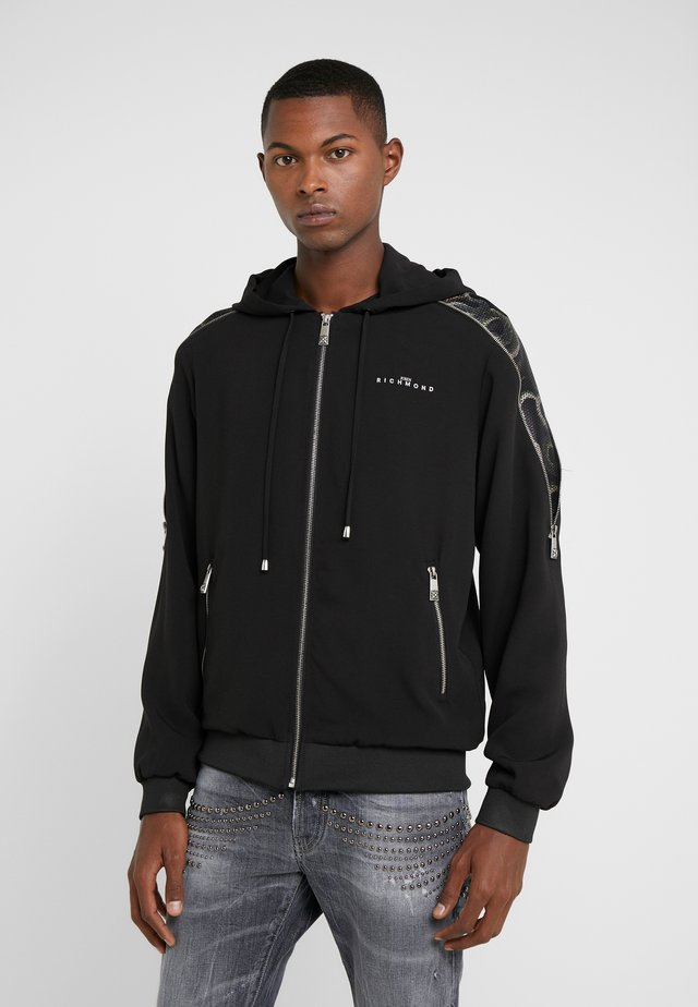 MILAR - veste en sweat zippée - black