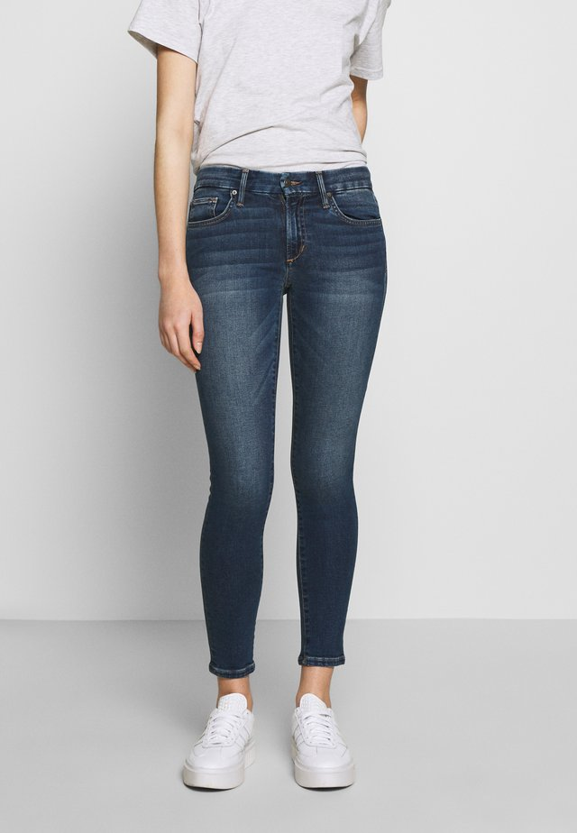 THE ICON ANKLE - Skinny džíny - dark-blue denim