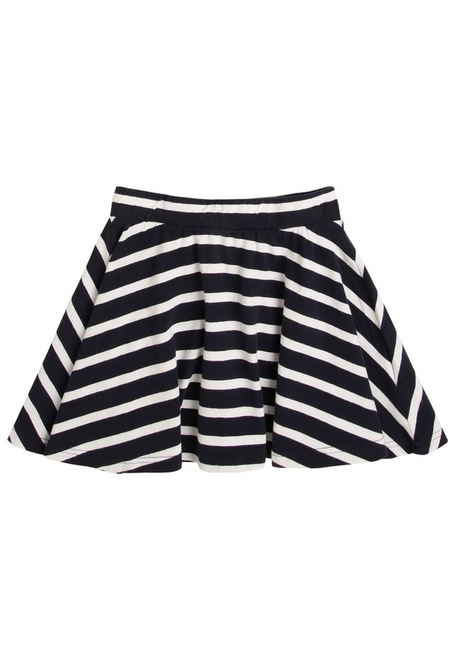 A-line skirt - marine weiß