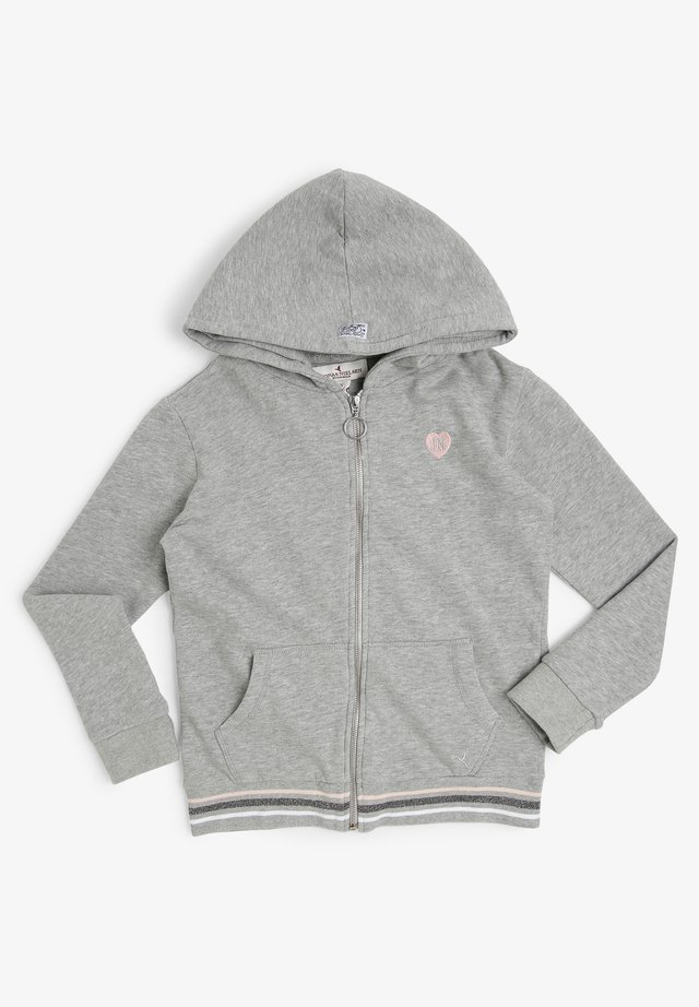 Zip-up hoodie - grau