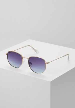 Sonnenbrille - gold-coloured/purple to blue