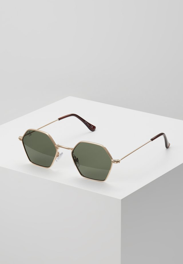 Solglasögon - gold/green lens