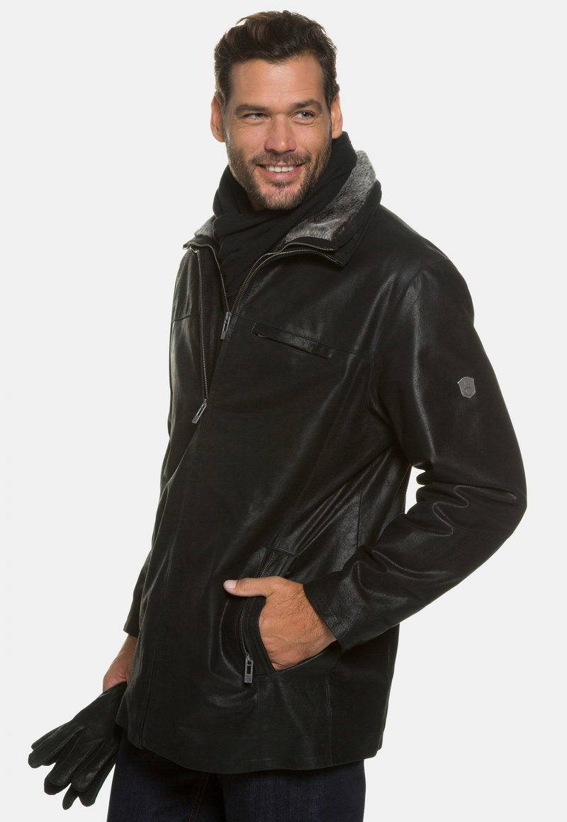 JP1880 - Leather jacket - schwarz
