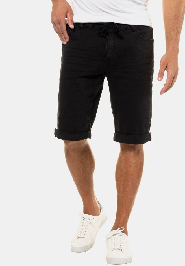 Denim shorts - schwarz