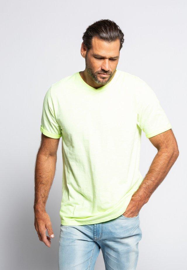 Basic T-shirt - neon-gelb