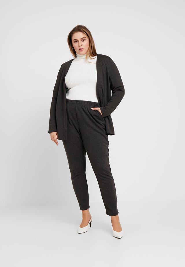 JRRACHEL TROUSERS - Pantaloni - dark grey melange
