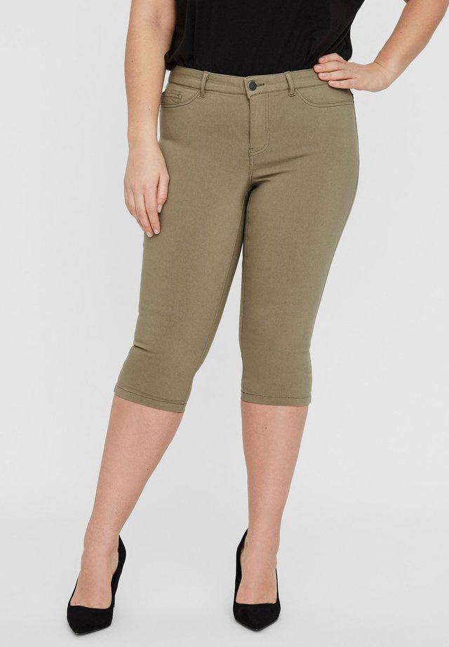 CAPRIHOSE SLIM- - Szorty jeansowe - covert green