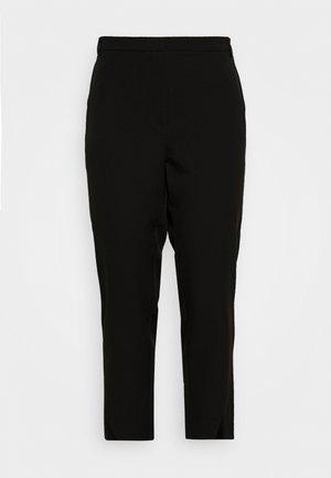 JRBELL TAILORED ANKLE SLIT PANTS - Bukser - black