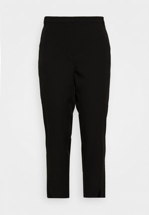 JRBELL TAILORED ANKLE SLIT PANTS - Pantaloni - black