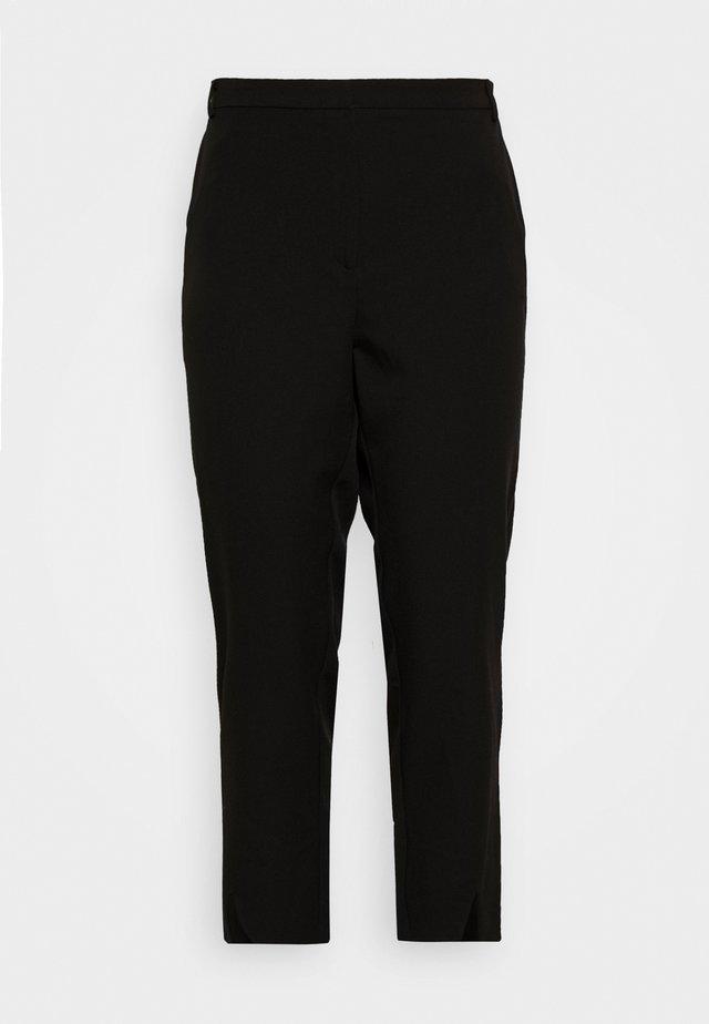JRBELL TAILORED ANKLE SLIT PANTS - Broek - black