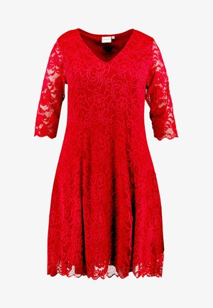 JRNEWEMMA 3/4 ABOVE KNEE DRESS - Day dress - red