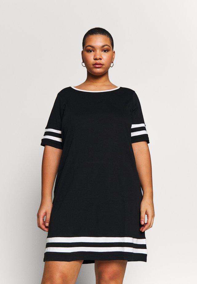 JRLIZETTE  - Jerseyklänning - black/snow white