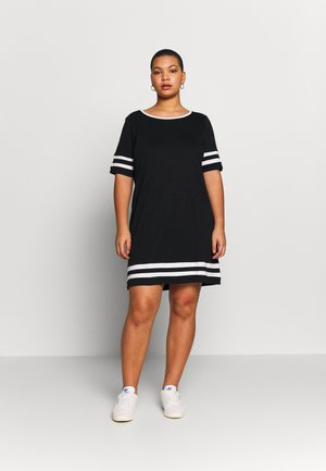JRLIZETTE  - Jersey dress - black/snow white