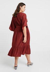JUNAROSE - by VERO MODA - JRPALISA SLEEVE MIDI DRESS - Day dress - madder brown - 2