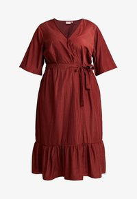 JUNAROSE - by VERO MODA - JRPALISA SLEEVE MIDI DRESS - Day dress - madder brown - 3
