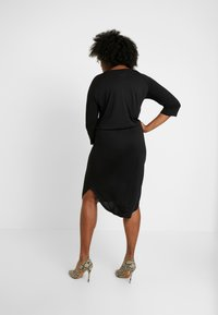 JUNAROSE - by VERO MODA - JRZAKAS 3/4 SLEEVE BELOW KNEE DRESS - Robe en jersey - black - 3