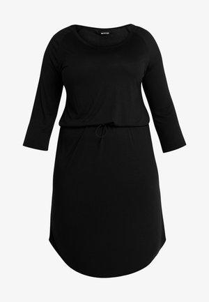 JRZAKAS 3/4 SLEEVE BELOW KNEE DRESS - Jerseykleid - black