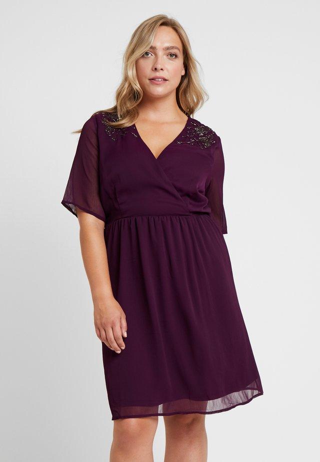 JRSANNE SLEEVE DRESS - Korte jurk - potent purple