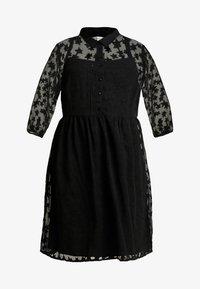 JUNAROSE - by VERO MODA - JRMARIZA SLEEVES KNEE DRESS - Skjortekjole - black - 5