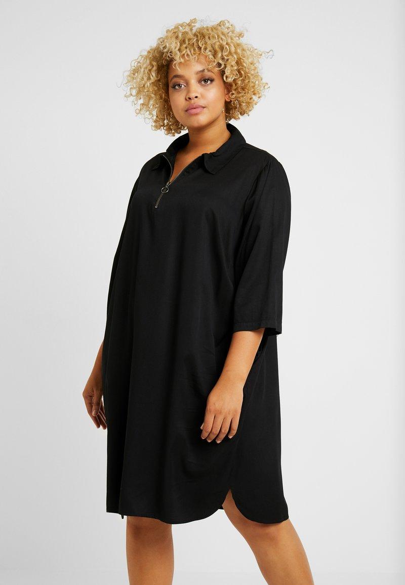 JUNAROSE - by VERO MODA - JRMANNE SL ABOVE KNEE DRESS  - Vapaa-ajan mekko - black
