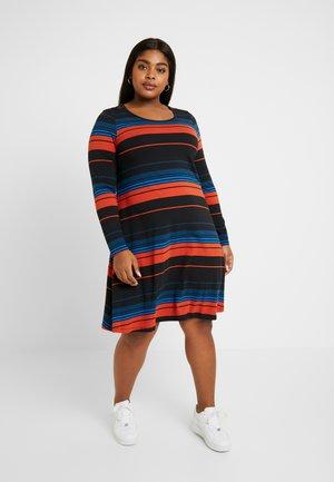 JREL ABOVE KNEE DRESS - Žerzejové šaty - black/multi color