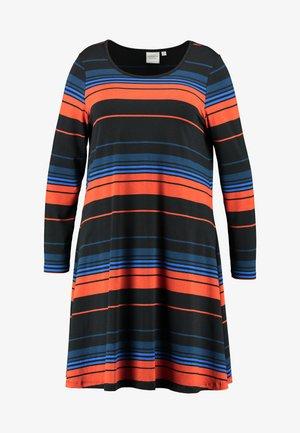 JREL ABOVE KNEE DRESS - Jerseykjole - black/multi color