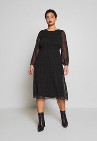 JUNAROSE - by VERO MODA - JROLIVA DRESS - Korte jurk - black - 0