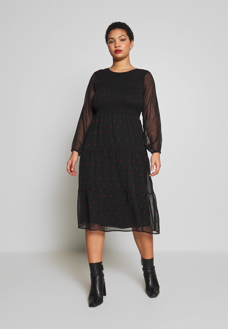 JUNAROSE - by VERO MODA - JROLIVA DRESS - Korte jurk - black